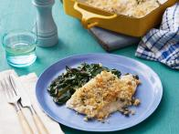 Baked Lemon Sole with Sauteed Swiss Chard