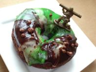 Camo Chocolate Mint Doughnuts