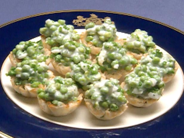 English Peas Cheese Tartlets