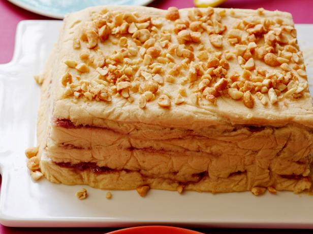 Peanut Butter and Jelly Icebox Cake