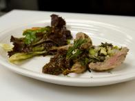 Wild Rice-Stuffed Quail with Fig Puree