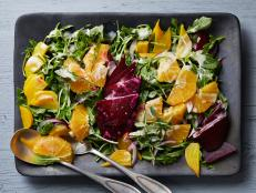 Cooking Channel serves up this Roasted Beet Salad with Oranges and Creamy Goat Cheese Dressing recipe from Kelsey Nixon plus many other recipes at CookingChannelTV.com