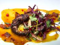 Charred Octopus Salad with Tangerine Sauce