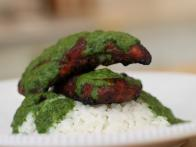 Spiced Chicken with Parsley-Mint Sauce