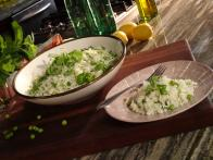 Jasmine Rice Pilaf with Peas, Mint and Lemon