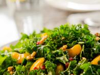 Green Salad with Tangerines and Pomegranate Seeds