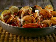 Steamed Clams with Chorizo and Tequila