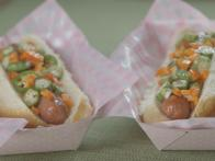Hot Dogs with Okra Giardiniera