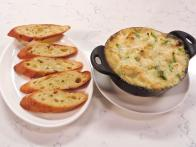 "Crab and Jalapeno ""Hot Pot"" with Lemon-Garlic Toast"