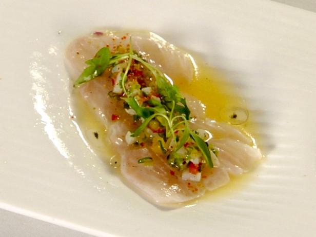 Kampachi Ceviche with Conch Salad