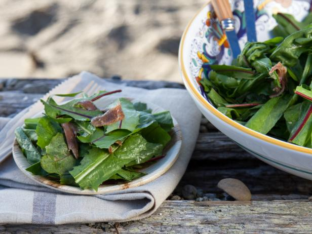 Dandelion Greens with Anchovy Dressing