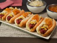 Smoked Turkey Kielbasa Dogs with Red Onion...