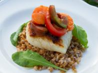 Seared Cod with Farro