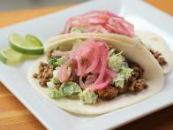 Spicy Bison Tacos with Brussels Sprout Slaw and Pickled Onions
