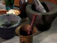 Using a Mortar and Pestle