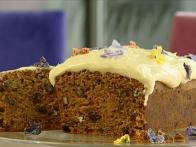 Flower-Bedecked Carrot Cake