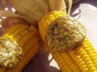 Corn With Chimichurri Butter