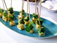 Festive Feta and Olive Skewers