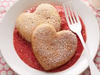 Heart Pancakes with Berries
