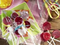 Pomegranate-Lime Lollipops