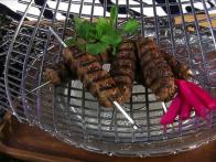 Grilled Meatloaf Kebabs