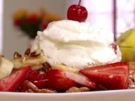 Banana-Split Funnel Cake