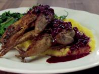 Quail With Berries and Greens