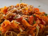 Carrot and Turkey Pasta Ragu