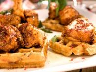 Wild Rice Waffles and Chicken