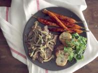 Dill and Mushroom Skirt Steak
