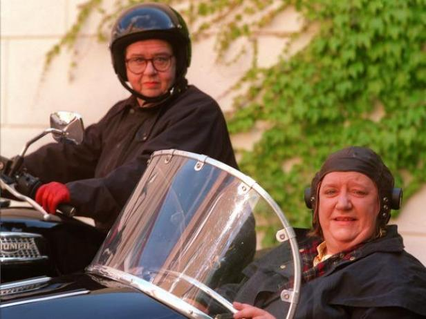 Two Fat Ladies - One sturdy motorcycle