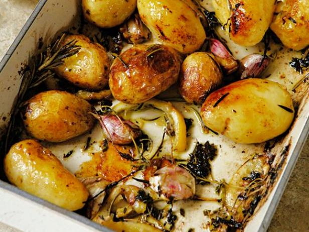 Roast Potatoes with Lemon, Rosemary, and Thyme