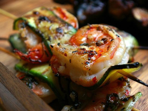 Laura Calder's Shrimp and Zucchini Skewers