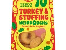British grocery chain Tesco has just unveiled a meaty, Thankgiving-friendly doughnut flavor, called Turkey and Stuffing.