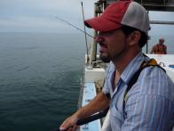 Ben Sargent at Sea on Hook,Line and Dinner
