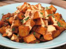 Cooking Channel serves up this Patatas Bravas Home Fries with Roasted Tomato Aioli recipe from Bobby Flay plus many other recipes at CookingChannelTV.com