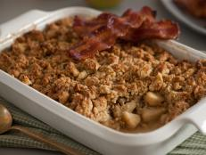 Cooking Channel serves up this McIntosh Maple Crumble with Candied Bacon recipe from Nadia G. plus many other recipes at CookingChannelTV.com