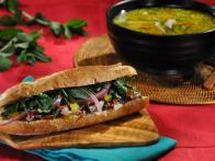 Duck Sandwich with Mango Chutney and Salted Pickled Onions