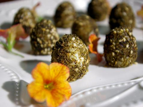 Herb-Rolled Quail's Eggs
