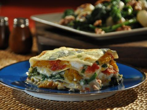 Vegetable Lasagna with Homemade Pasta and Jalapeno Bechamel