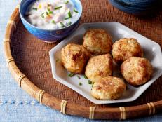 Cooking Channel serves up this Mozzarella Gobi Koftas with Sweet Potato Raita recipe  plus many other recipes at CookingChannelTV.com