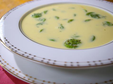 Fiddlehead and Saffron Soup