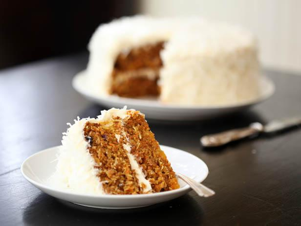 Coconut-Frosted Carrot Cake