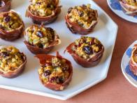 Crispy Prosciutto Cups with Sausage and Apple Stuffing