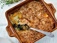 Winter Greens and Butternut Squash Gratin