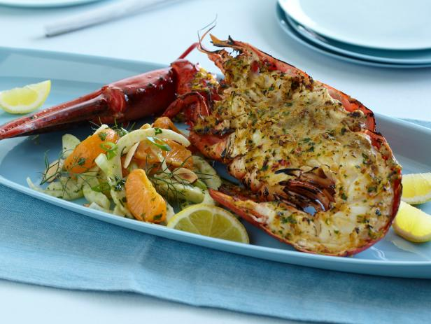 Grilled Coconut Lobster