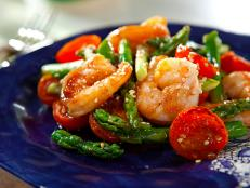 Cooking Channel serves up this Sesame Shrimp and Asparagus Stir-Fry recipe  plus many other recipes at CookingChannelTV.com