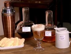 Cooking Channel serves up this Toasting Tiramisu Cocktail recipe from Alie Ward  and Georgia Hardstark plus many other recipes at CookingChannelTV.com