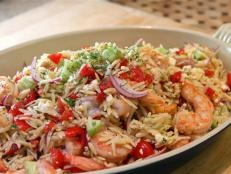 Cooking Channel serves up this Mediterranean Shrimp and Orzo Salad recipe from Kelsey Nixon plus many other recipes at CookingChannelTV.com
