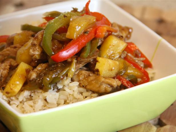 Sweet and Sour Stir-Fried Pork with Pineapple